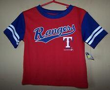 Boy's 2T 7091 TEXAS RANGERS Blue Red Baseball Jersey Shirt MLB Printed Letters