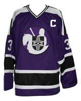 Custom Name # Cleveland Crusaders Retro Hockey Jersey Purple Shmyr Any Size