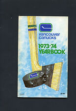 1973-74 Vancouver Canucks Media Guide.