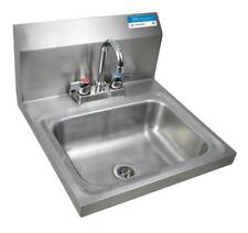 """Hand Sink 2 Hole 1-7/8"""" Dr W Faucet Bkhs-D-1410-P-G"""