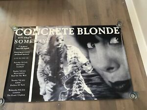 "Concrete Blonde Original UK Subway Sized Someday Single Promo Poster 40"" X 60"""