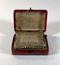 George IV antique solid silver Gilt Vinaigrette 1826 John Thropp Georgian Boxed