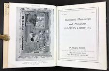 Maggs Bros Illuminated Manuscripts & Miniatures European & Oriental No. 404 1921