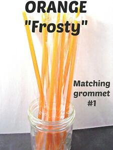 """""""FROSTY""""  STRAWS, 9/32"""" X 9"""" or 11"""", Solid Frosty Colors, Reusable"""