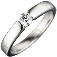 Solitär Ring Damenring weiße Zirkonia 925 Sterlingsilber rhodiniert, Silberring