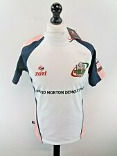 ZOTI EBBW VALE Mens Rugby Shirt M Medium 44 White Polyester BNWT