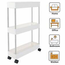 Slim Storage Cart Narrow Shelving Unit Organizer Slide Tower Rack For Kitchen