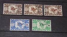NEW CALEDONIA 1945 FREE FRENCH SURCHARGES S/SET OF 5 F/U