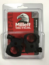 "Millett Tactical Scope Rings 1"" High Matte Black DT00733 Detachable"