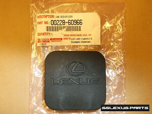 "Lexus GX470 GX460 (2003-2018) OEM 2"" Tow Hitch RUBBER COVER PLUG 00228-60966"