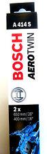 "BOSCH Aero Twin wiper blade 3397007414  A414S Pair (650mm / 26"" 400mm / 16"")"