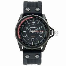 Diesel Authentic Watch Men's 45mm Rollcage DZ1760 Black Dial Black Rubber