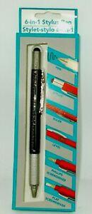 Greenbrierv 6-in-1 Stylet Stylo Noir Ton avec Noir Encre Nib