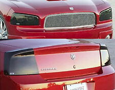 09-10 Dodge Charger RT SXT SRT8 Smoke GTS Acrylic Headlight Taillight Covers 4pc