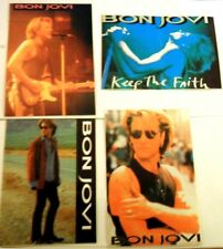 BON JOVI x 4 vintage stickers   KEEP THE FAITH