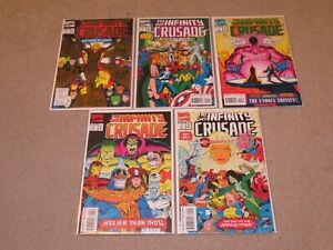 Infinity Crusade #1-5 Of 6 Lot Comic Books VF+ 8.5 Marvel 1993