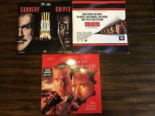 LASERDISC LOT OF 3 Action/Suspense Sneakers/Rising Sun/Ghost and the Darkness