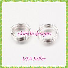 5mm 100pcs Silver Plated Split Dbl Jump Rings Jewelry Findings Earrings Necklace