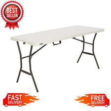 5 ft Portable Folding Table Camping Party Dining Picnic Handle Steel Frame, NEW