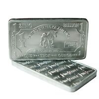 1 oz One Troy Ounce USA Horse .999 Pure Zinc Bullion Bar Zn Element