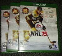 NHL 15 - MICROSOFT XBOX ONE - FREE S/H - (H)