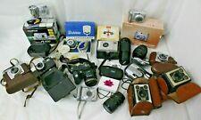 Job Lot Vintage Cameras & Lenses, Box Brownie, Digital Compacts