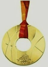 2006 TORINO WINTER OLYMPICS GOLD MEDAL WITH SILK RIBBON