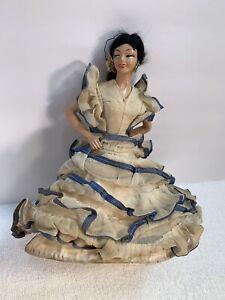 Vintage Spanish Flamenco Dancer Doll Body 10' long