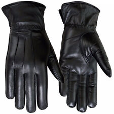 Winter Dress Gloves Women Thermal Linning Real Leather Ladies Glove Black, 6-XS