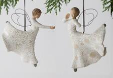 Willow Tree Christmas Ornament Set Dance Dancing Life Song Joy Nativity Angels