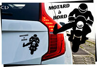 Sticker MOTARD à BORD 10 cm _ Autocollant Carrosserie pare-brise ( 13 coloris )