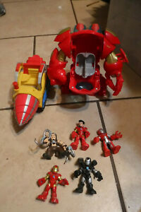 Playskool Marvel Hulkbuster, War Machine, & Iron Man Super Hero Squad lot of 7