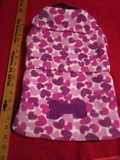 NWT East Side Collection Heart Fleece Dog Puppy Coat Medium FREE Shipping