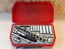 Teng Tools 3/8 Inch Drive Ratchet Metric Socket Set Used