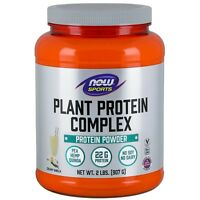 NOW Foods Plant Protein Complex, Creamy Vanilla Powder, 2 lbs.