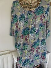 WHITE STUFF cotton tunic size 16 green red  floral tunic dress Long Sleeve Top