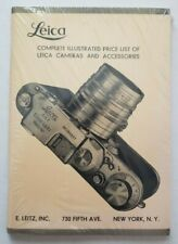 Leica Complete Illustrated Price List of Leica Cameras & Accessories NEW Sealed!