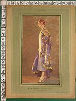 C1930 Francese Stampa L'Illustrazione ~ Aubry Cinese Abito ~ Madama C