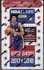 2017-18 Panini Hoops Basketball sealed hobby box 24 packs of 8 NBA cards 2 auto
