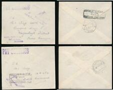 INDIA 1946 EMBOSSED OFFICIAL ENVELOPES PAY SERVICES HANDSTAMP + POST PAID BOXED