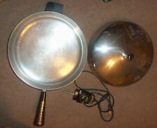 Vintage Farberware Electric Fry Pan Skillet 310-B Dome Lid Stainless Steel 312
