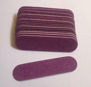 *FREE POSTAGE* 25 x Small Mini 6cm Short Thin Nail File Emery Boards PURPLE