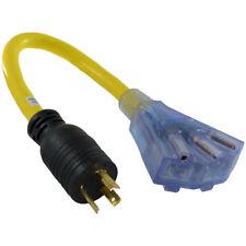 Conntek WL520515 L5-20P (3) Nema 5-15R 20 Amp Cable de adaptador de conveniencia, 1.5 ft (approx. 0.46 m)