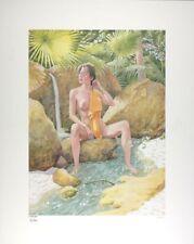 Affiche Offset Moine Fou (Le) He-pao se baignant dans la rivière