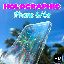 Clear Case Cover for Apple iPhone 6s 6 Holographic Hologram See Thru Transparent