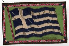 VINTAGE Antique TOBACCO FELT Felts PREMIUM Flannel GREECE FLAG Greek ATHENS