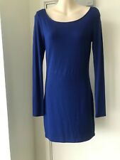 FOREVER 21 body con Royal Blue x back long sleeve Dress sz M BNWOT
