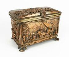 Fine 19TH CENTURY CONTINENTAL ELECTROTYPE BOX / CASKET Rural Scenes