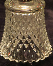 Vintage Votive Candle Holder Peglite Home Interior Homco Clear Diamond Cut Euc