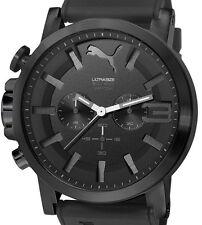 Herren Ultrasize Armbanduhr Sport Schwarz Silikon/Kautschukarmband 10 ATM PUMA